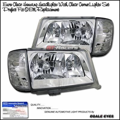 Headlights & Tail Lights - Headlights - Custom - Chrome Clear Headlights