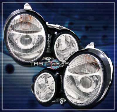 Headlights & Tail Lights - Headlights - Custom - Chrome V2 Euro Pro Headlights