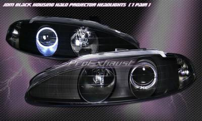 Headlights & Tail Lights - Headlights - Custom - JDM Black Halo Pro Headlights