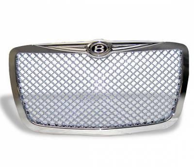 Grilles - Custom Fit Grilles - 4CarOption - Chrysler 300 4CarOption Front Hood Grille - GRZ-300C0405-CM