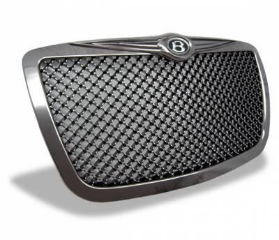 Grilles - Custom Fit Grilles - 4CarOption - Chrysler 300 4CarOption Front Hood Grille - GRZ-300C0405-MT