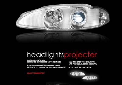 Headlights & Tail Lights - Headlights - Custom - Chrome Angel Eye Halo Pro Headlights