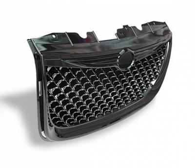 Grilles - Custom Fit Grilles - 4CarOption - Chrysler 300 4CarOption Front Hood Grille - GRZ-300M9904-BK