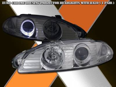 Headlights & Tail Lights - Headlights - Custom - Euro Chrome Halo Pro Headlights