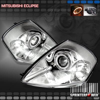 Headlights & Tail Lights - Headlights - Custom - Chrome Euro Halo Pro Headlights