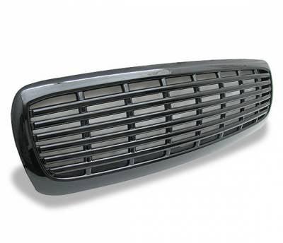 Grilles - Custom Fit Grilles - 4CarOption - Dodge Dakota 4CarOption Front Hood Grille - GRZ-DKT9704-BK