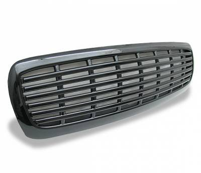 Grilles - Custom Fit Grilles - 4CarOption - Dodge Durango 4CarOption Front Hood Grille - GRZ-DKT9704-BK