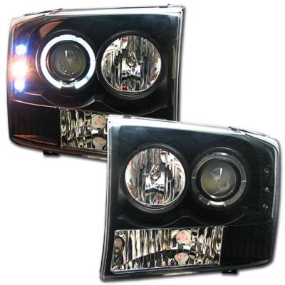 Headlights & Tail Lights - Headlights - Custom - Black Pro LED Headlights