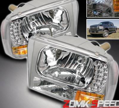 Headlights & Tail Lights - Headlights - Custom - Crystal LED Headlights