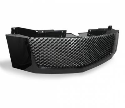 Grilles - Custom Fit Grilles - 4CarOption - Cadillac Escalade 4CarOption Front Hood Grille - GRZ-ESCL0708-BK