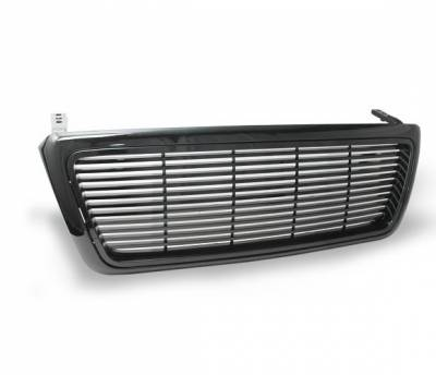 Grilles - Custom Fit Grilles - 4CarOption - Ford F150 4CarOption Front Hood Grille - GRZ-F1500405-JDM