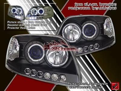 Headlights & Tail Lights - Headlights - Custom - Euro Black Pro LED Headlights