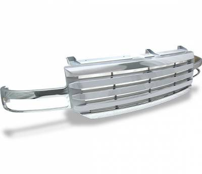 Grilles - Custom Fit Grilles - 4CarOption - GMC Sierra 4CarOption Front Hood Grille - GRZ-GMC0306-CM