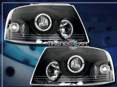 Headlights & Tail Lights - Headlights - Custom - Black Dual Halo Headlights