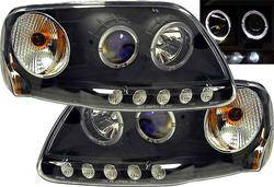 Headlights & Tail Lights - Headlights - Custom - Black Halo LED Pro Headlights