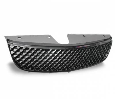 Grilles - Custom Fit Grilles - 4CarOption - Chevrolet Malibu 4CarOption Front Hood Grille - GRZ-MLB9703-BK