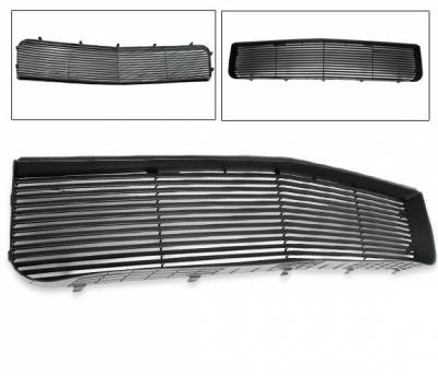 Grilles - Custom Fit Grilles - 4CarOption - Ford Mustang 4CarOption Front Hood Grille - GRZ-MST0506V6-BK