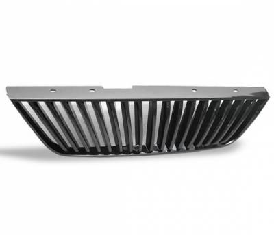 Grilles - Custom Fit Grilles - 4CarOption - Ford Mustang 4CarOption Front Hood Grille - GRZ-MST9904-BK