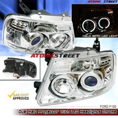 Headlights & Tail Lights - Headlights - Custom - Chrome Clear LED Pro Headlights