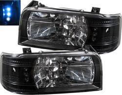 Headlights & Tail Lights - Headlights - Custom - Black LED 1PC Headlights