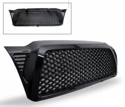 Grilles - Custom Fit Grilles - 4CarOption - Ford Expedition 4CarOption Front Hood Grille - GRZQ-TCM0509-BK