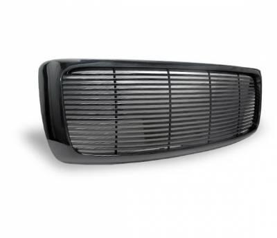 Grilles - Custom Fit Grilles - 4CarOption - Dodge Ram 4CarOption Front Hood Grille - GRZ-RAM0204-JDM