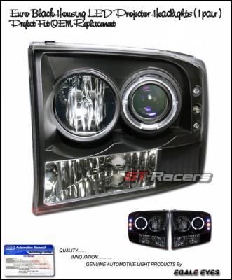 Headlights & Tail Lights - Headlights - Custom - Euro Black Halo Pro Headlights