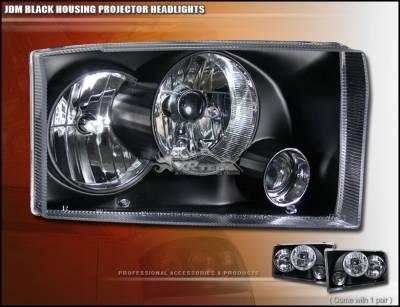 Headlights & Tail Lights - Headlights - Custom - JDM Black Pro Headlights