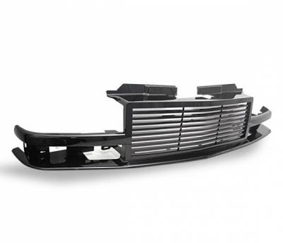 Grilles - Custom Fit Grilles - 4CarOption - GMC Sonoma 4CarOption Front Hood Grille - GRZ-S109802-BK