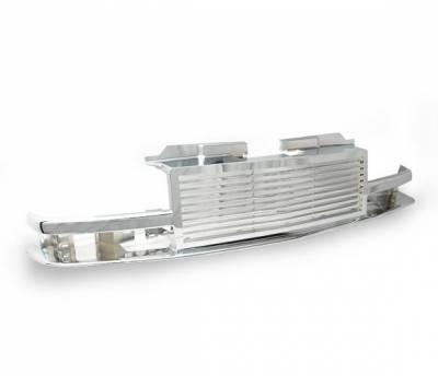 Grilles - Custom Fit Grilles - 4CarOption - Chevrolet S10 4CarOption Front Hood Grille - GRZ-S109802-CM