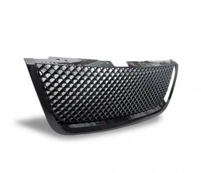 Grilles - Custom Fit Grilles - 4CarOption - GMC Acadia 4CarOption Front Hood Grille - GRZT-ACD0708-BK