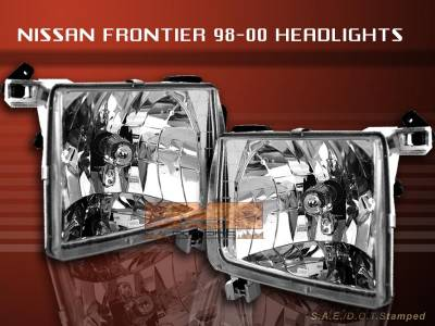 Headlights & Tail Lights - Headlights - Custom - Diamond Clear Headlights