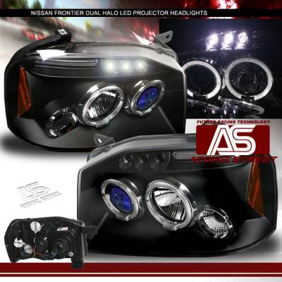 Headlights & Tail Lights - Headlights - Custom - Black Halo LED Headlights