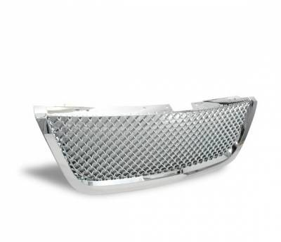 Grilles - Custom Fit Grilles - 4CarOption - GMC Acadia 4CarOption Front Hood Grille - GRZT-ACD0708-CM