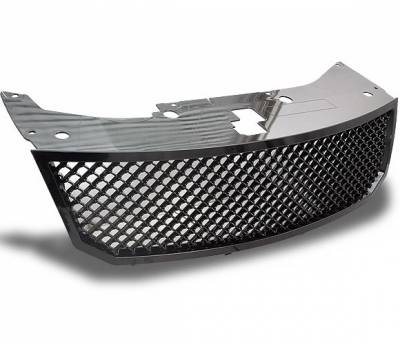 Grilles - Custom Fit Grilles - 4CarOption - Dodge Avenger 4CarOption Front Hood Grille - GRZT-AVG0809-BK