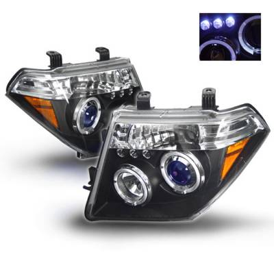 Headlights & Tail Lights - Headlights - Custom - Black LED Halo Headlights