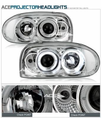 Headlights & Tail Lights - Headlights - Custom - Chrome Blue Pro Headlights