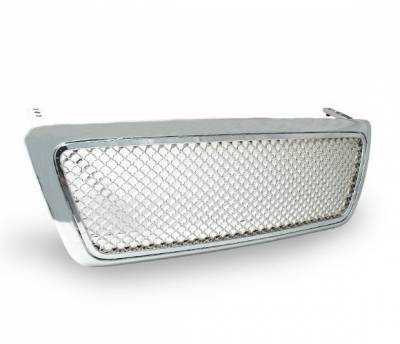 Grilles - Custom Fit Grilles - 4CarOption - Ford F150 4CarOption Front Hood Grille - GRZT-F1500406-CM