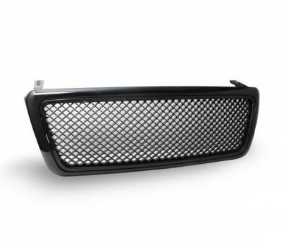 Grilles - Custom Fit Grilles - 4CarOption - Ford F150 4CarOption Front Hood Grille - GRZT-F1500406-JDM