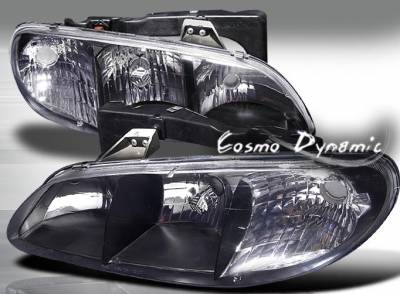 Headlights & Tail Lights - Headlights - Custom - Black Crystal Headlights
