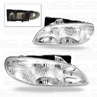Headlights & Tail Lights - Headlights - Custom - Chrome Clear Headlights