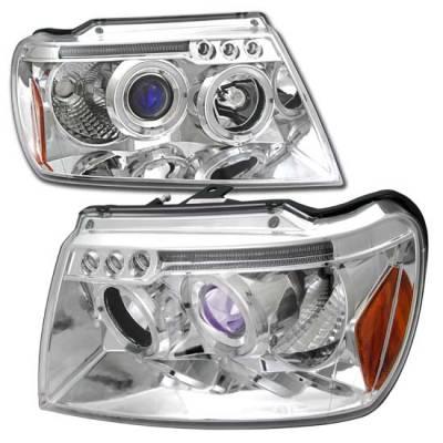 Headlights & Tail Lights - Headlights - Custom - Chrome Dual Halo Pro LED Headlights