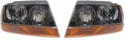 Headlights & Tail Lights - Headlights - Custom - Black Clear Headlights