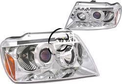 Headlights & Tail Lights - Headlights - Custom - Chrome Halo  LED Headlights