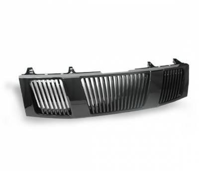 Grilles - Custom Fit Grilles - 4CarOption - Nissan Armada 4CarOption Front Hood Grille - GRZ-TTN0406-BK