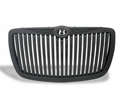 Grilles - Custom Fit Grilles - 4CarOption - Chrysler 300 4CarOption Front Hood Grille - GRZV-300C0407-BK