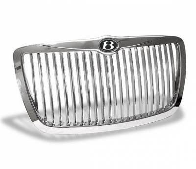 Grilles - Custom Fit Grilles - 4CarOption - Chrysler 300 4CarOption Front Hood Grille - GRZV-300C0407-CM