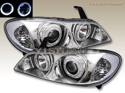 Headlights & Tail Lights - Headlights - Custom - Chrome Clear Dual Halo Pro Headlights