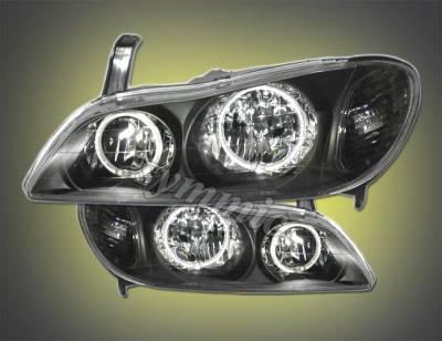 Headlights & Tail Lights - Headlights - Custom - Euro Black Dual Halo Pro Headlights