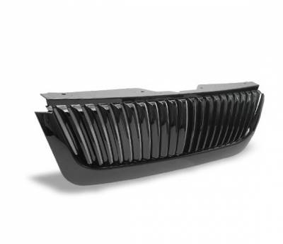 Grilles - Custom Fit Grilles - 4CarOption - Ford Explorer 4CarOption Front Hood Grille - GRZV-EXPL0205-BK